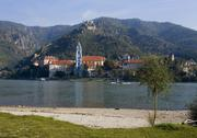 Stock Photo of durnstein on danube river wachau lower austria