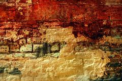 old grunge bricks wall texture - stock photo
