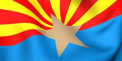 Flag of arizona Stock Illustration