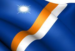 marshall islands flag - stock illustration
