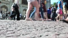 Cambridge Cobbles Stock Footage
