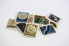 Group post stamps from Yugoslavia - stock photo
