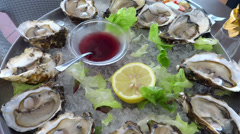 Oysters Stock Footage