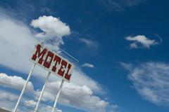 Retro Motel Sign - stock photo
