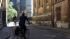 Cambridge Cycling Stock Footage