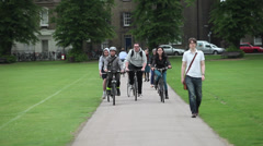 Cambridge bikes at Parkers Piece Stock Footage