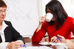 Two women in a business meeting Stock Photos