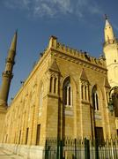 mosque in islamic district of cairo - stock photo