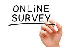 Online survey Stock Photos