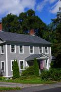 classic new england home - stock photo