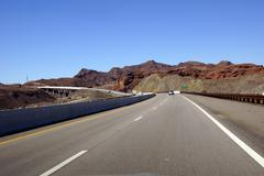 Highway and hoover dam bridge Stock Photos