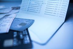 savings deposit passbook - stock photo