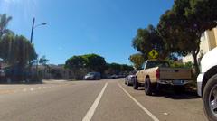 POV Driving In Neighborhood Bike Lane- Seal Beach CA Stock Footage