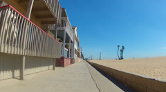 POV Rolling By Beach Homes At Seal Beach CA 1 Stock Footage