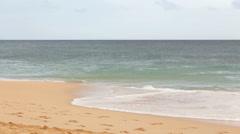 Beach waves and surf, Makena beach, Maui, Hawaii Stock Footage