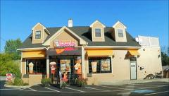 Dunkin Donuts restaurant drive up Stock Footage