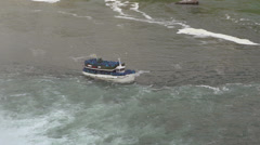 Maid of the Mist boat at Niagara Falls Stock Footage