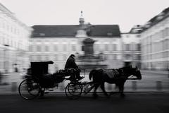 Horse-driven carriage in Vienna Stock Photos