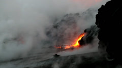 Hawaii, Lava flow - stock footage