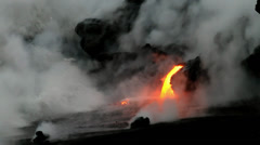 Hawaii, Lava flow Stock Footage