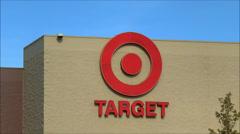 Target storefront logo, loop Stock Footage