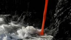Hawaii, lava flow Stock Footage