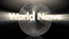 Intro/wipe - World News Stock Footage
