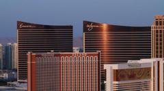 Las Vegas top of Rio pan Stock Footage