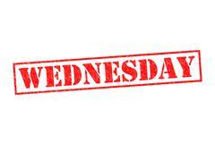 Stock Illustration of WEDNESDAY