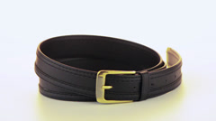 Leather belt Stock Footage