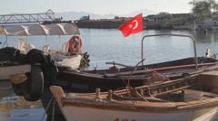 Turkish fishing boat - HD - stock footage