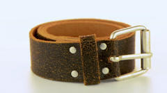 Leather belt Stock Footage
