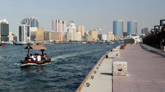 Dubai Creek time lapse Stock Footage
