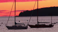 Dawn, Acadia, Maine Stock Footage