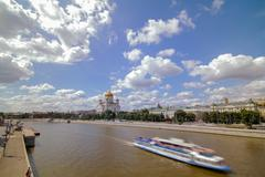 Cathedral of Christ the Saviour. Russia,Moscow - stock photo