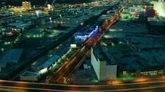 Viivästys Las Vegas Suburbs at Night Arkistovideo