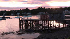 Daybreak at Bass Harbor, Maine Stock Footage