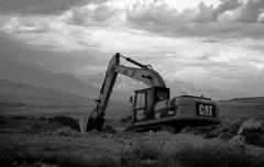 Tractor excavating Stock Photos