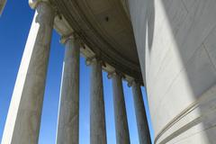 pillars on the jefferson memorial - stock photo