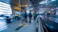 Airport terminal timelapse Stock Footage