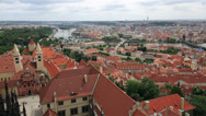 Stock Video Footage of royal palace of prague castle (view from tower of saint vitus cathedral).
