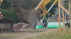 Roadside Construction Project Stock Footage