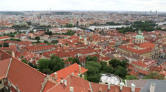 Historical center of prague (view from the tower of saint vitus cathedral). Stock Footage
