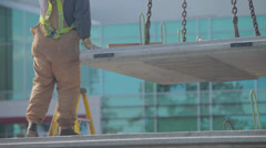 RIGGER Construction SITE Worker Stock Footage
