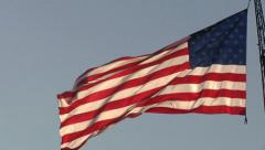 Large american flag political campaign land of free decision making representing Stock Footage
