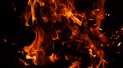 Fire Slow Motion Pan Stock Footage