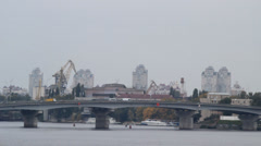 Bridge over the Dnipro Stock Footage