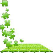 Green Glassy Puzzle - stock illustration