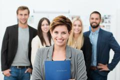group of job applicants - stock photo