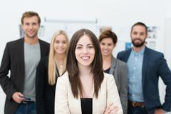 Successful female team leader Stock Photos